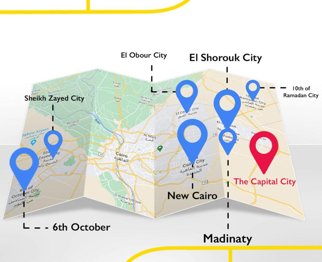 خريطة العاصمة الادارية