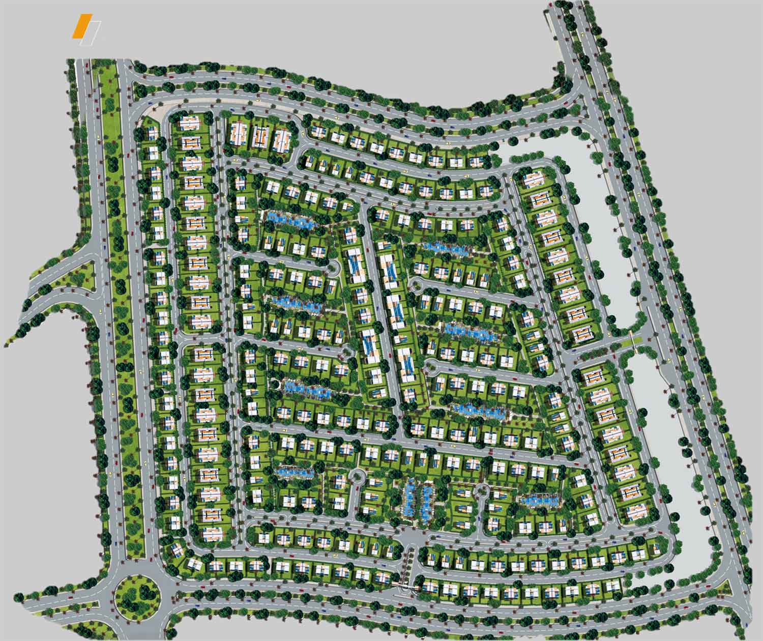 El Patio Zahraa - Master plan image - Flash property                                                style=