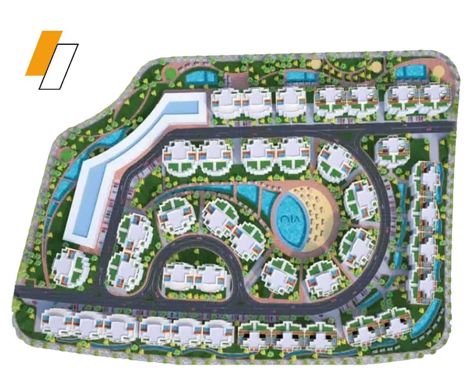 OIA Towers - Master plan image - Flash property                                                style=