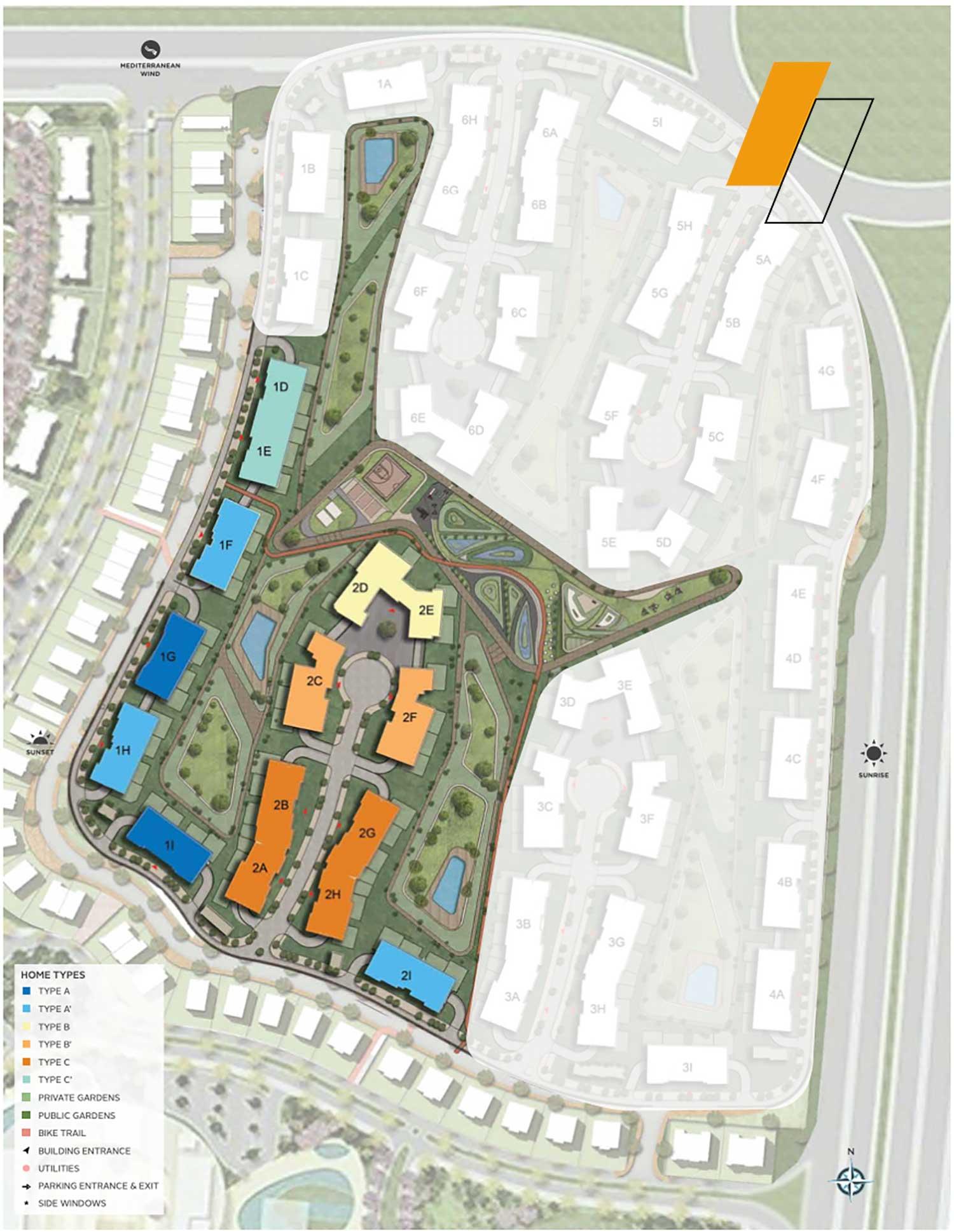 V Residence - Master plan image - Flash property                                                style=