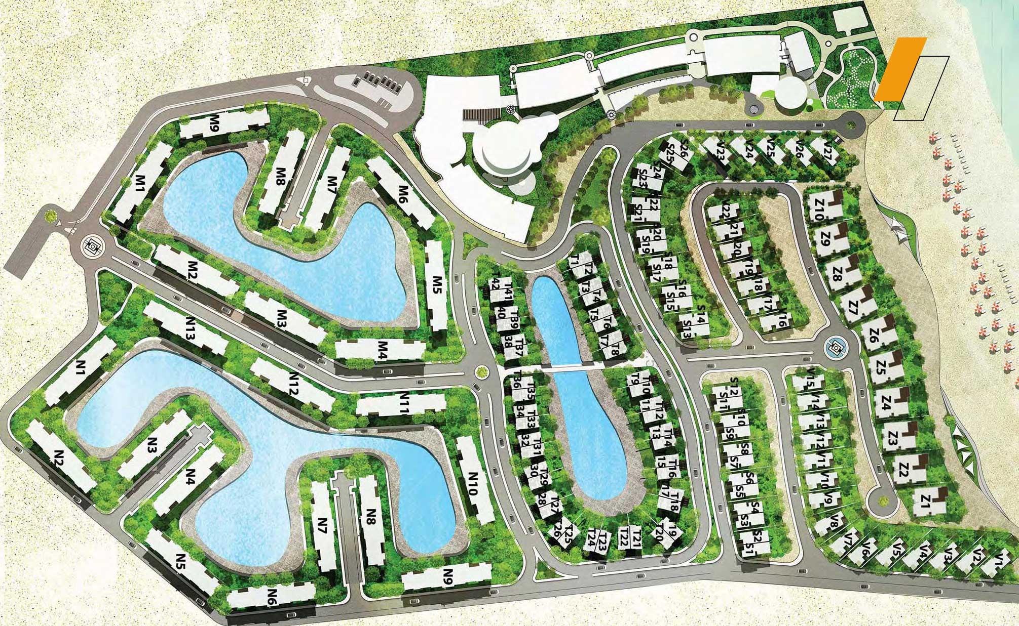 Zoya Ghazala Bay - Master plan image - Flash property                                                style=