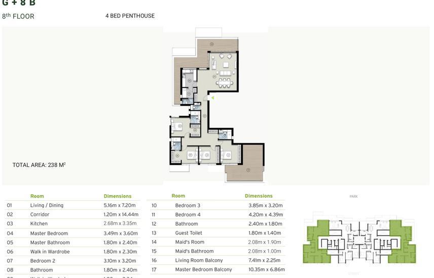 4 bedroom penthouse-prime location-zed east