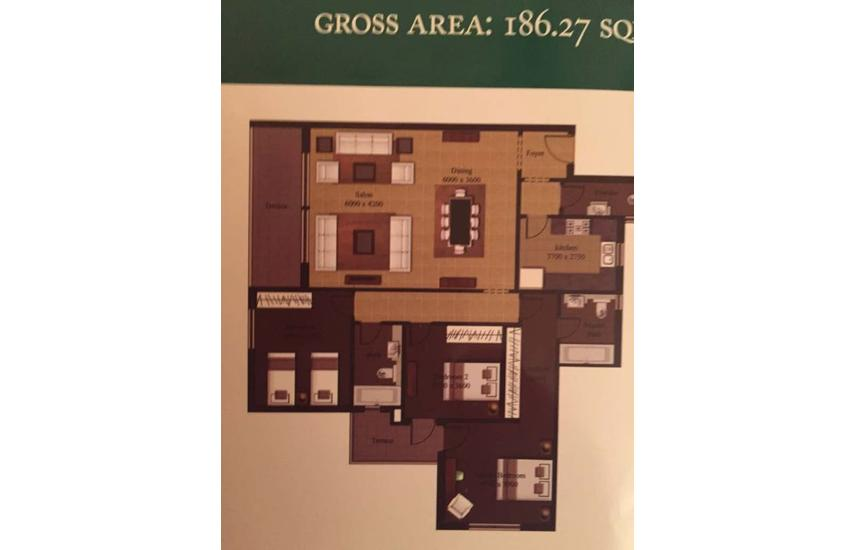 Mivida new cairo apartment 186 m for sale finishe