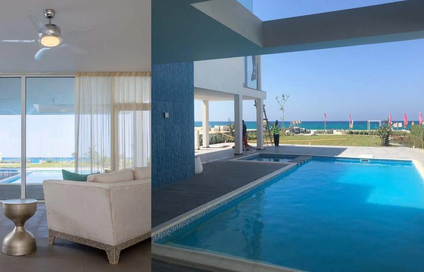 Luxurious villa Finished first raw on the sea