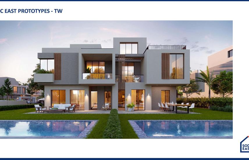 Twin house 245 m with 5% DP & 8 years installments