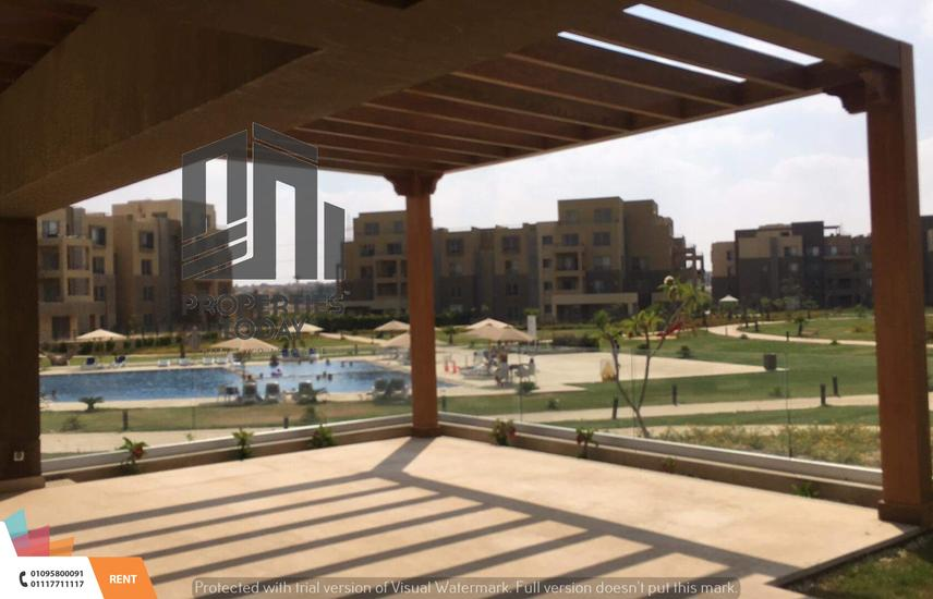 Flat Pool view 275m garden 200m rent At palm parks