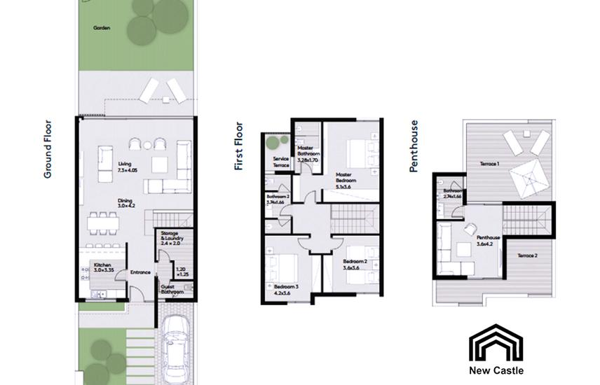 Townhouse 243m READY with Inst. PRIME location