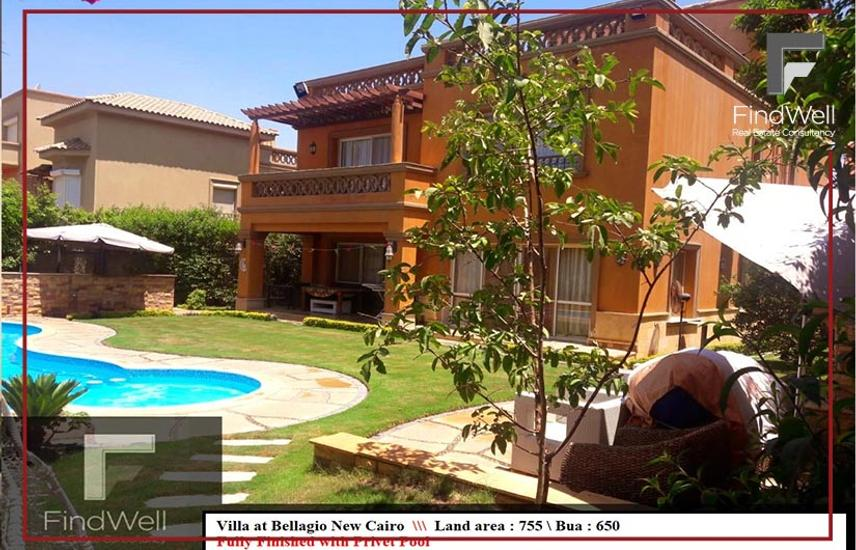 Villa For Sale with Pool in Bellagio New Cairo - Flash property