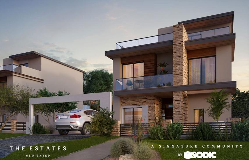 Villa 348m With 5% downpayment in The Estates - SODIC