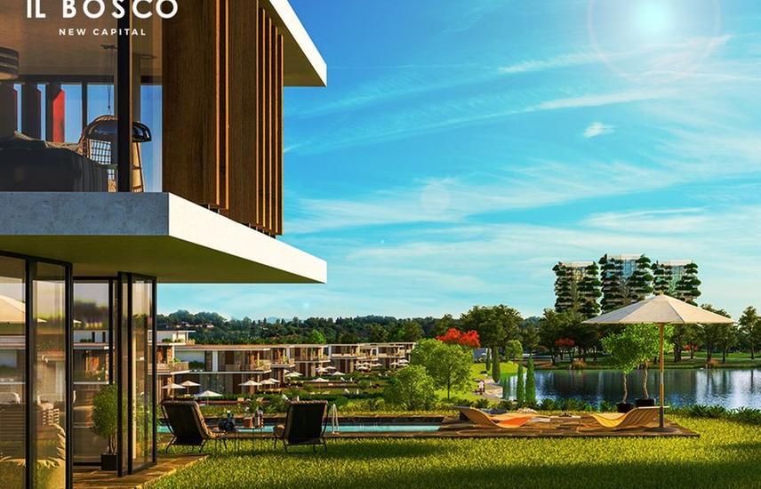 Twin house for sale in IL Bosco compound