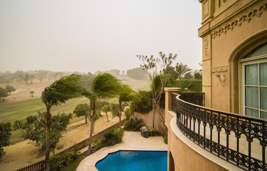 katameya Heights luxury villa golf view 950 sq/m .